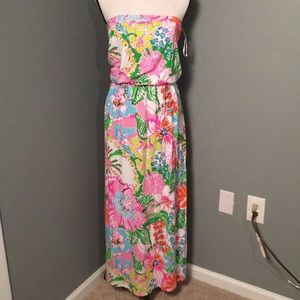 Lilly Pulitzer Maxi Strapless Dress